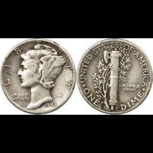 1943 lady Liberty dime